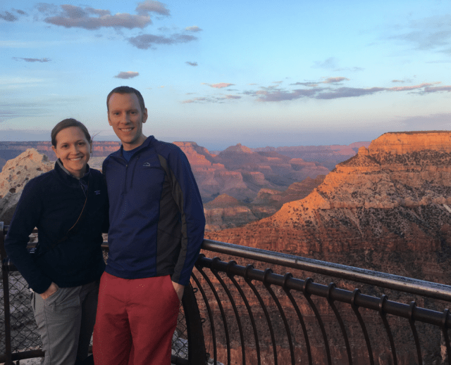 Park Chasers Amy & Greg at Grand Canyon National Park