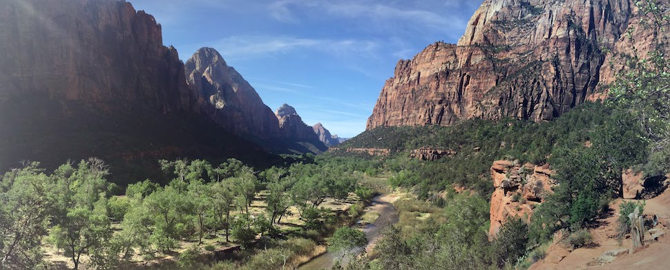 View of Zion Canyon and the Virgin River