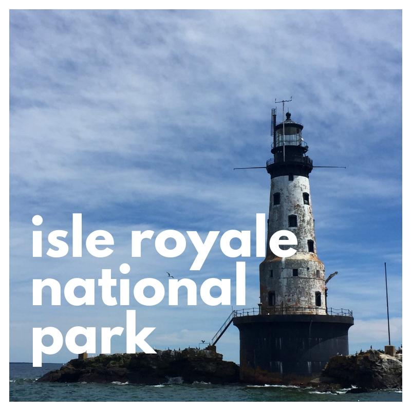 Isle royale national park lighthouse