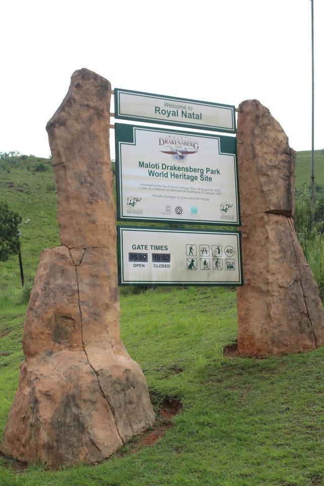 Royal Natal National Park Entrance Sign