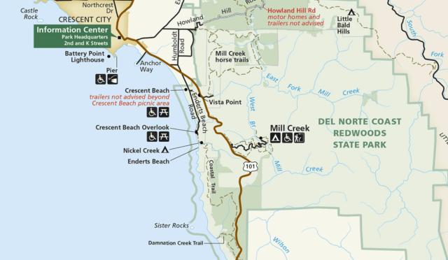NPS map of Endert's Beach