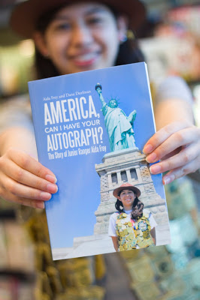 Jr. Ranger Aida's book about National Parks