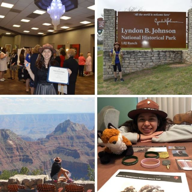 Collage of photos of Junior Ranger