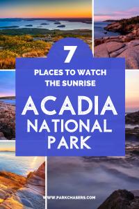 Sunrise in Acadia National Park