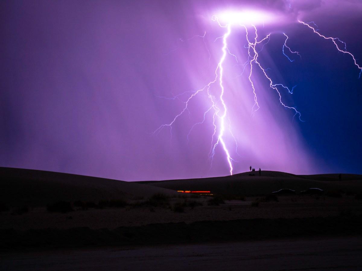 Lightning Strike in White Sands National Monument