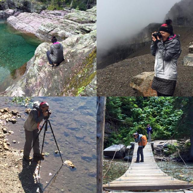national park photography collage in different locations