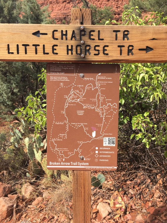 Little Horse Trail Sign for Chapel Hill and Chicken Point
