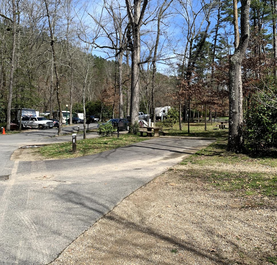 Our campsite at Gulpha Gorge Campground - Hot Springs National Park