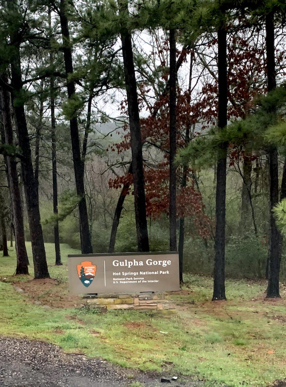 Gulpha Gorge Campground Sign