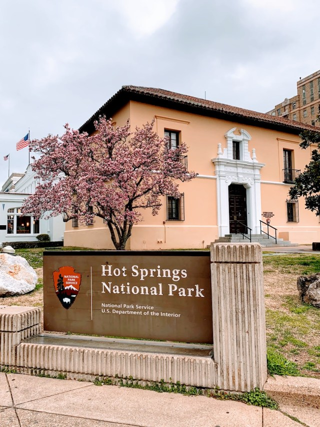 Hot Springs Park Sign
