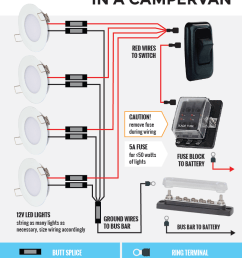 wiring 12v lights in an rv or campervan electric system general tips [ 760 x 1516 Pixel ]