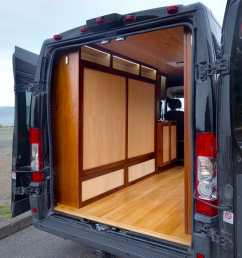 custom murphy bed design in a diy campervan conversion build  [ 1080 x 1080 Pixel ]