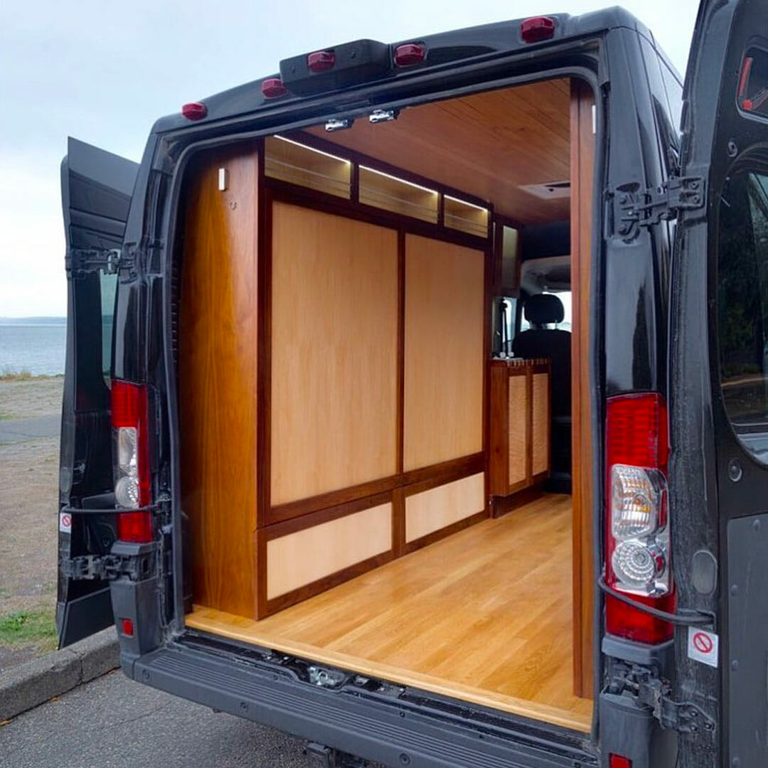 hight resolution of custom murphy bed design in a diy campervan conversion build