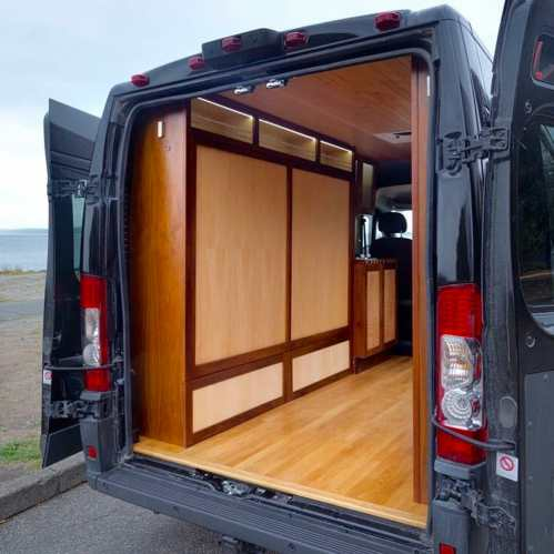 small resolution of custom murphy bed design in a diy campervan conversion build