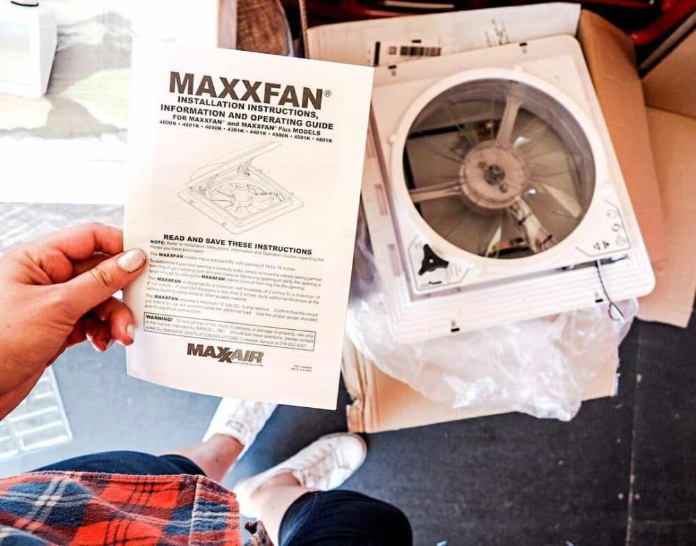 medium resolution of how to install a maxxair fan