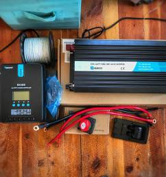 solar power system 12v inverter for a camper van conversion or rv [ 1080 x 810 Pixel ]