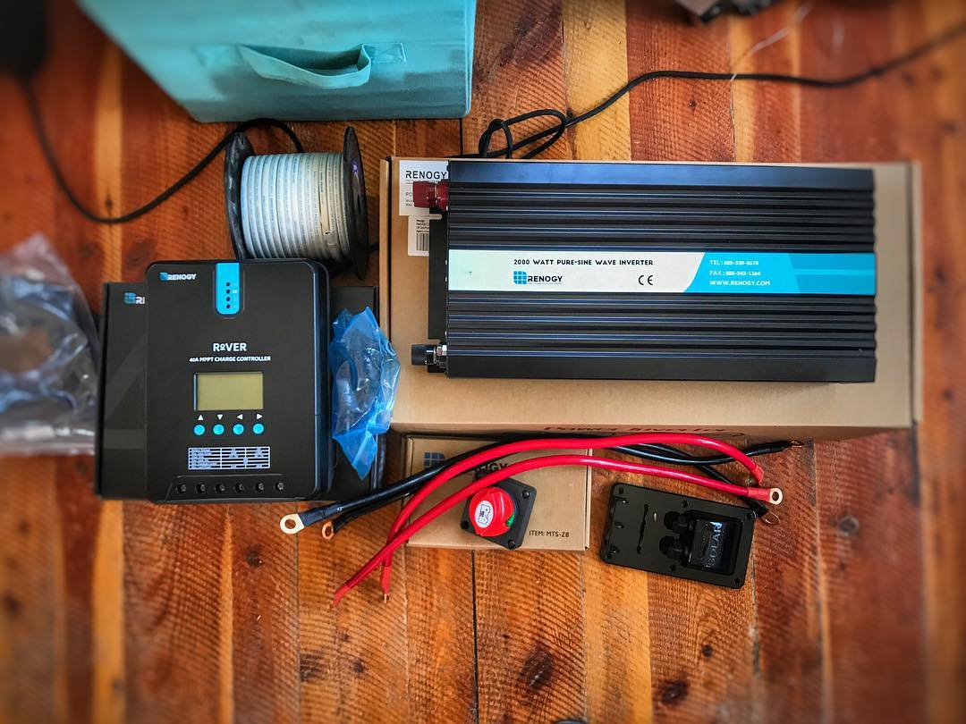 hight resolution of solar power system 12v inverter for a camper van conversion or rv