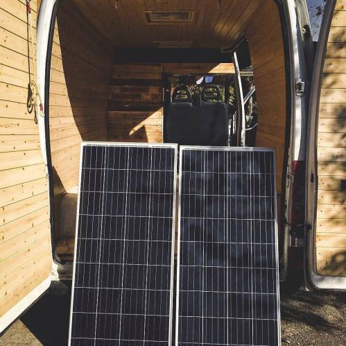 small resolution of solar power system for a van