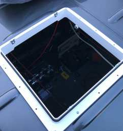 installing a 12v roof vent fan on a campervan conversion [ 1080 x 1080 Pixel ]