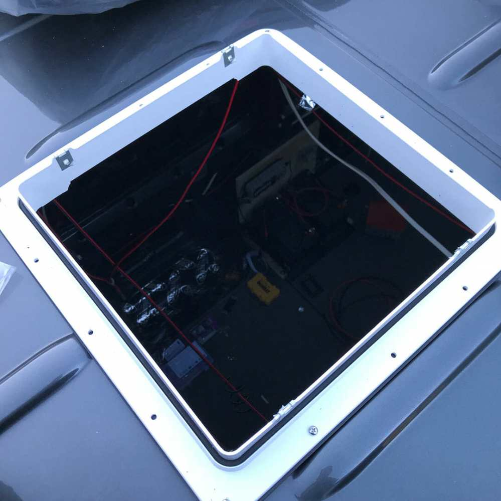 medium resolution of installing a 12v roof vent fan on a campervan conversion