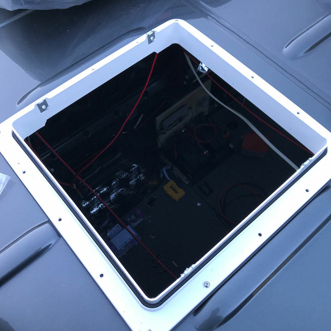 hight resolution of installing a 12v roof vent fan on a campervan conversion