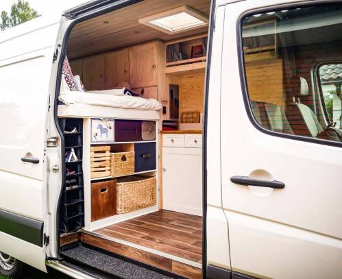 small resolution of storage and organization in a vanlife campervan conversion build