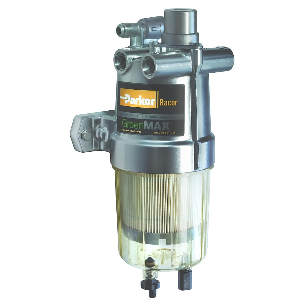 medium resolution of fuel filter water separator with integrated fuel heater racor greenmax series