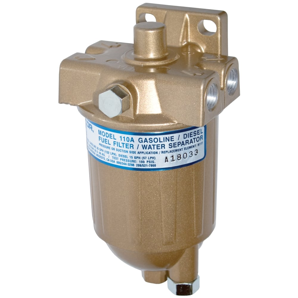 medium resolution of high pressure fuel filter water separator racor 110a series
