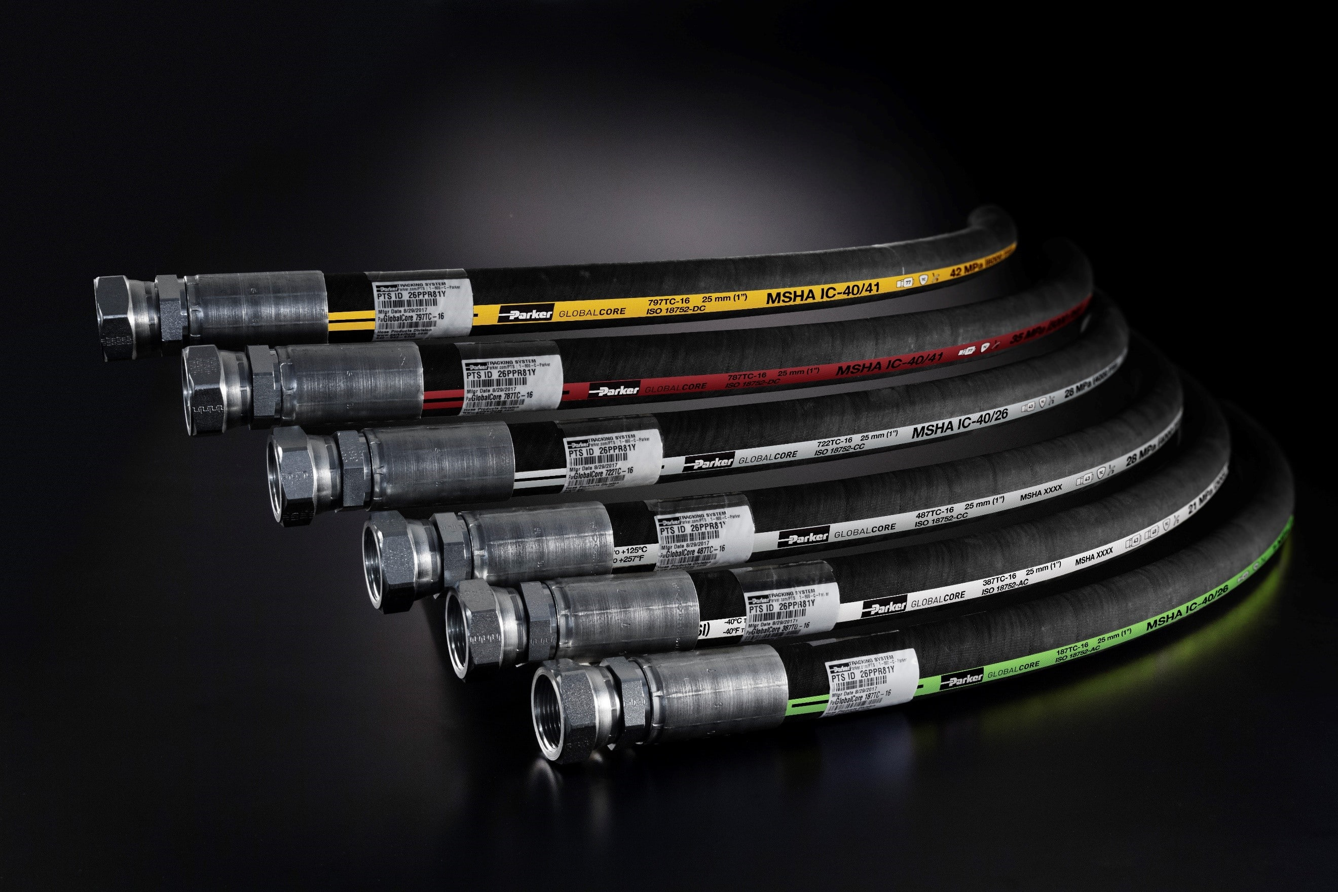Parkers New GlobalCore 187 High Performance Hydraulic Hose
