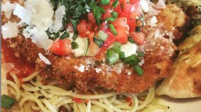 Chicken parmesan at Via Baci in Lone Tree
