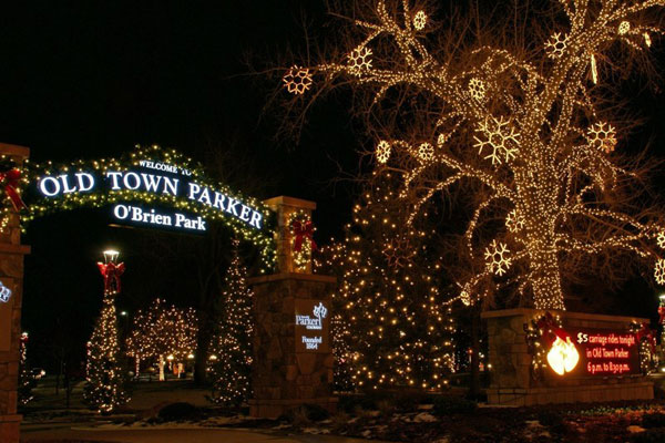 OBrien Park Christmas Lights Town of Parker Colorado