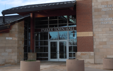 parker town hall mainstreet parker co