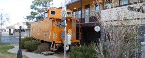 Train Station 20 mile Parker Colorado Railroad Crossing sign historic downtown parker