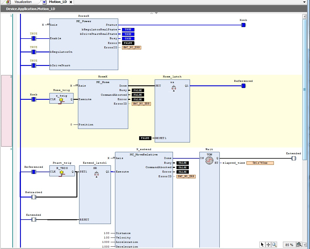 hight resolution of this will create a virtual plc and allow you to run plc simulation play or f5 here s a screen capture of the program online and the visualization and