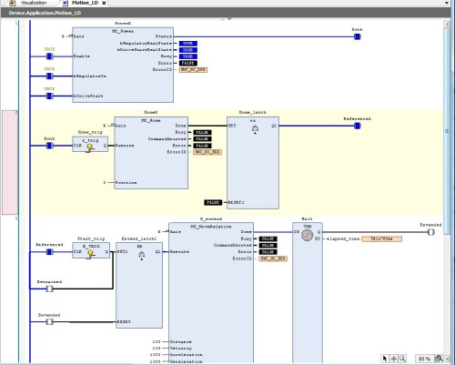 small resolution of this will create a virtual plc and allow you to run plc simulation play or f5 here s a screen capture of the program online and the visualization and