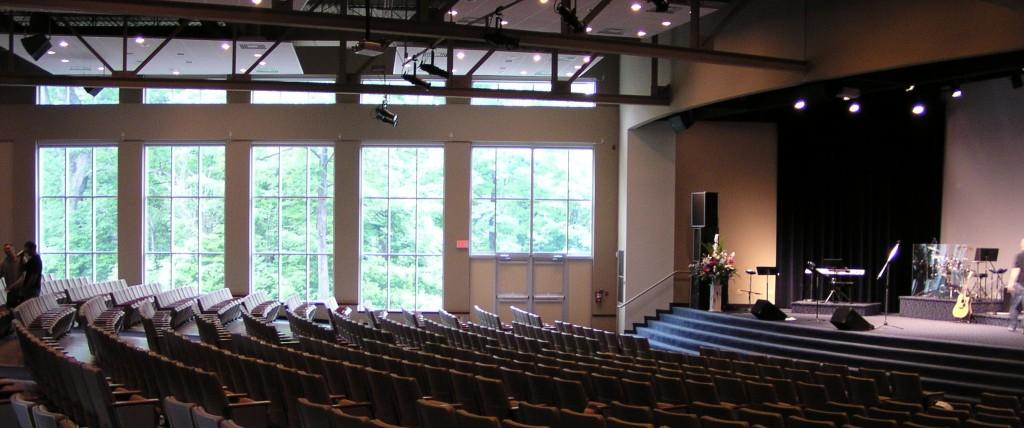 Church design dedicated sanctuary or multipurpose space