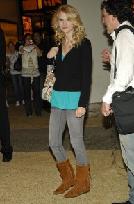 Way-Back-When-Taylor-Wore-Gray-Denim-Tucked-Fringed-Boots