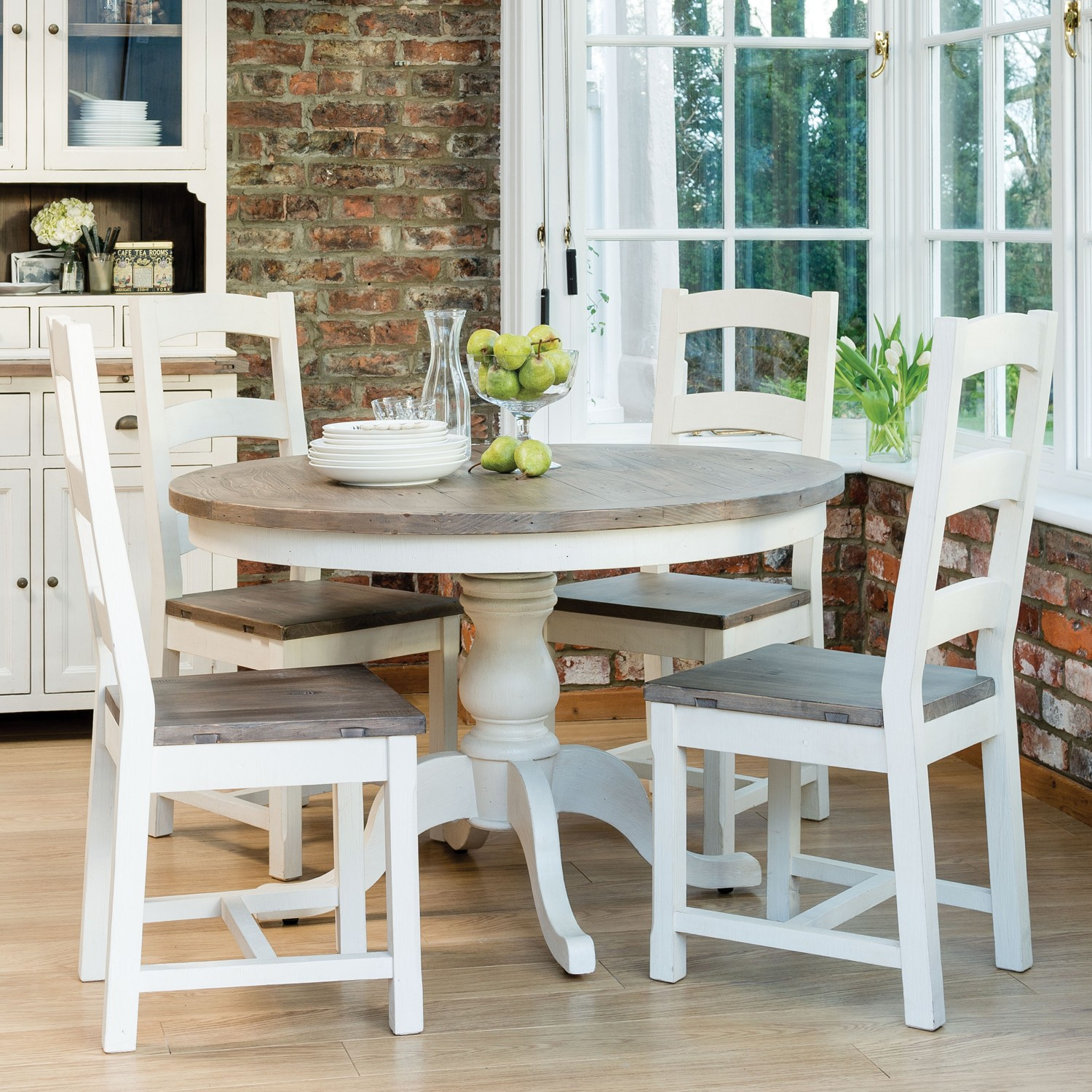 kitchen table and 6 chairs uk outdoor lounge chair cotswold circular four wooden dining set