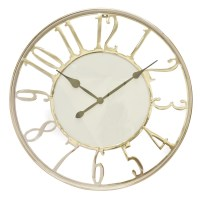 Kensington Wall Clock, Silver