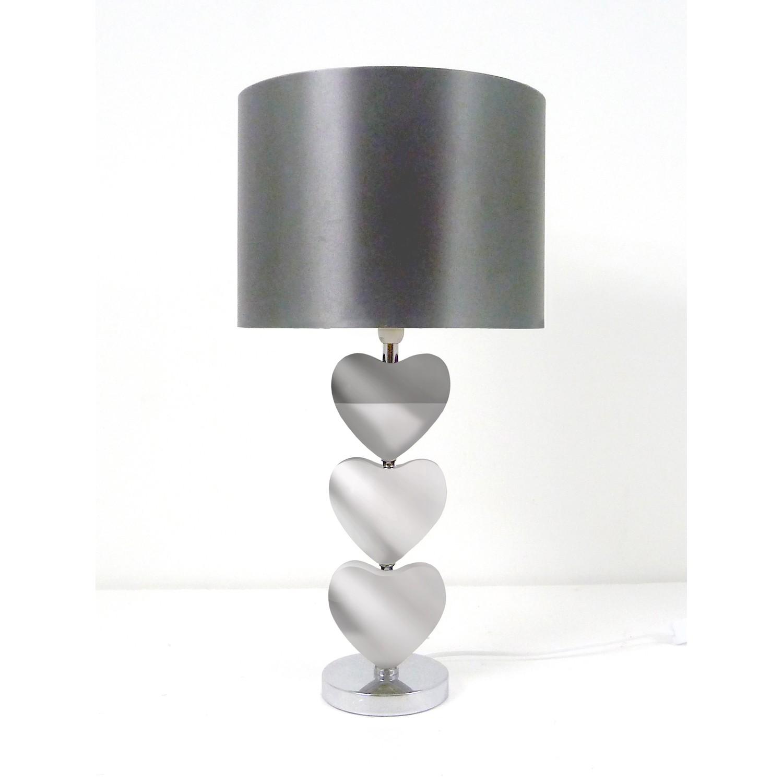 Rhea Heart Table Lamp, Mirror
