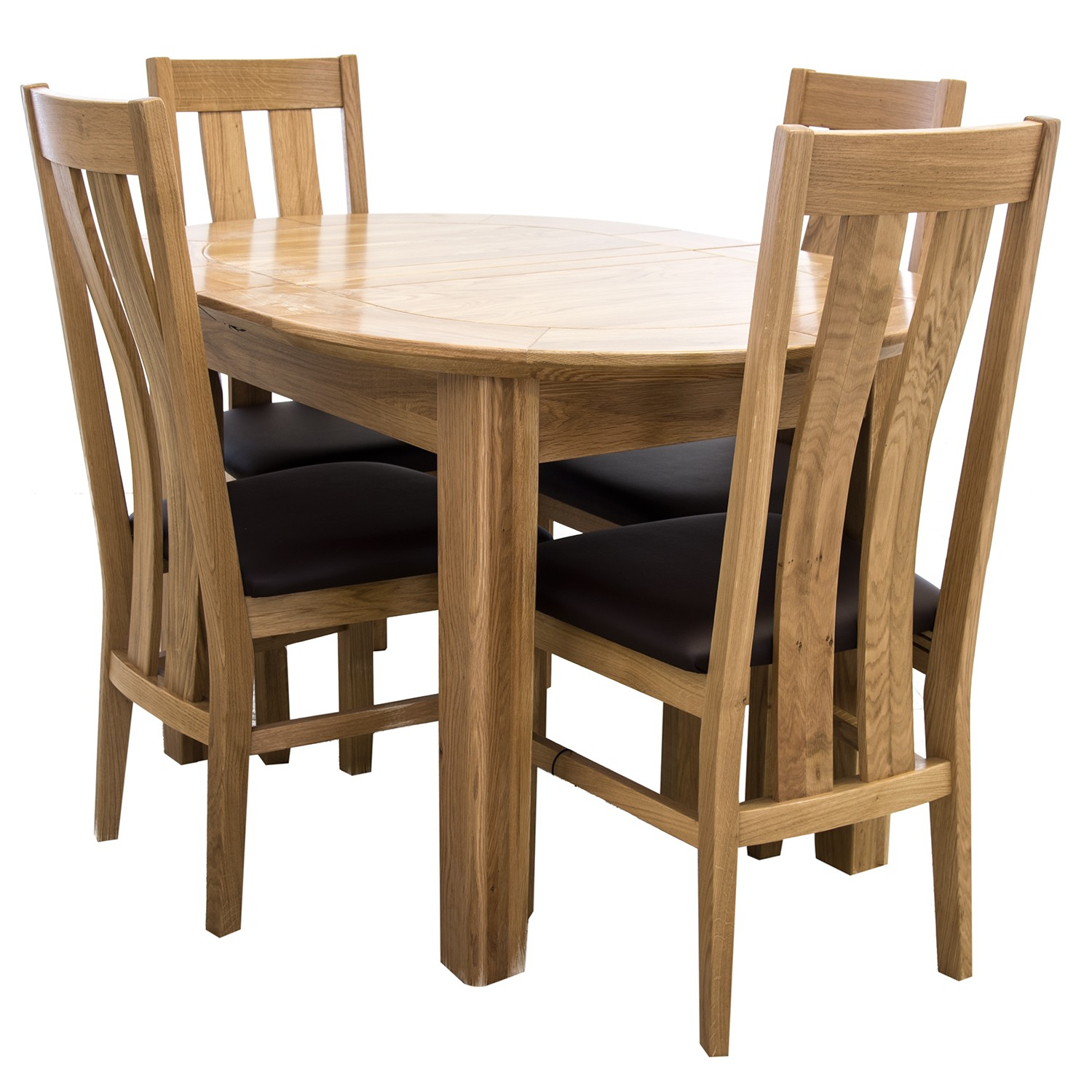 Toulouse Small D End Dining Table Amp Four Chairs Dining Set