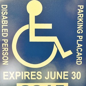 Do you use a handicap placard?