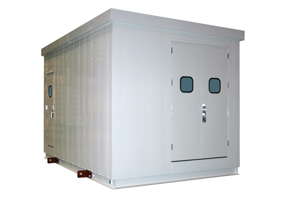 This Marshalling Panel Building Provided Critical Functionality For A Utility Plant In Nebraska From View The Single Side Door And Double End Doors