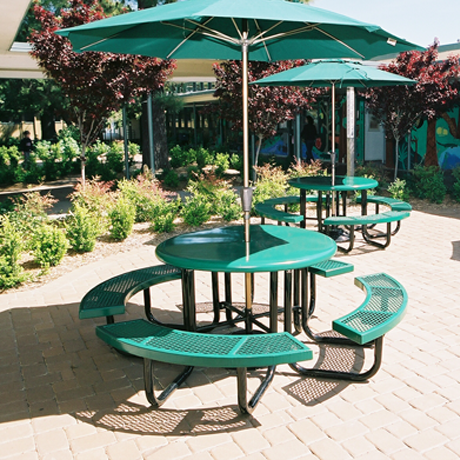 commercial picnic tables for schools