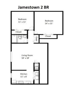 Two Bedroom Deluxe Style – Ground Floor (#02)