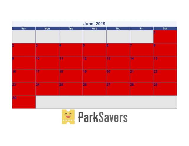 June Disneyland Crowd Calendar