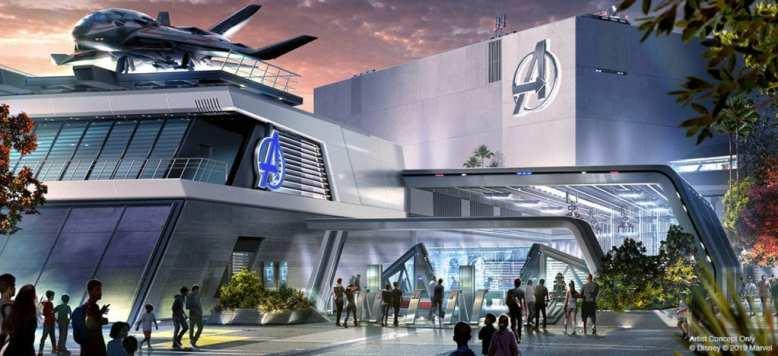 Avengers Campus Building