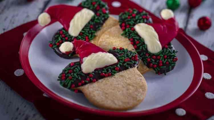 Santa Mickey Sugar Cookie