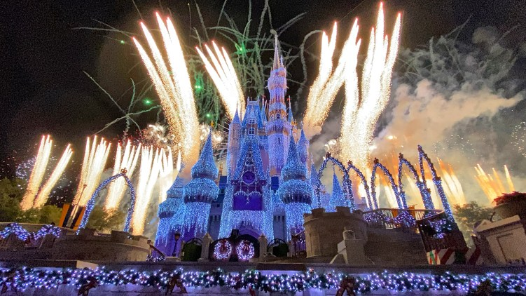 Mickey's Very Merry Christmas Party Fireworks