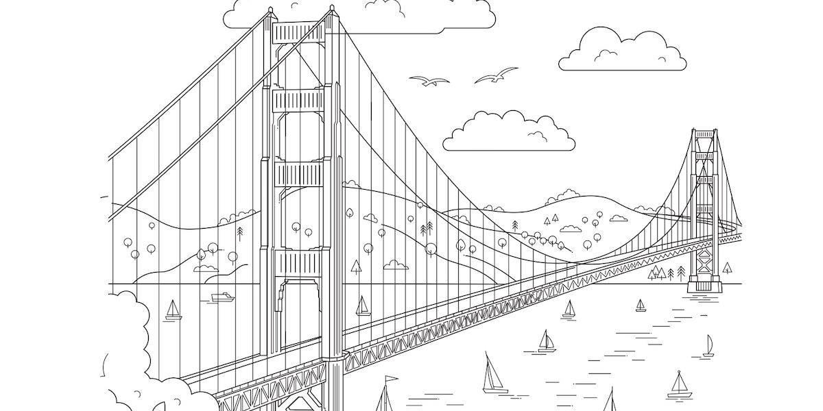 Download free coloring pages from Views of San Francisco ...